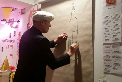 Paul Simonon from The Clash starts a painting