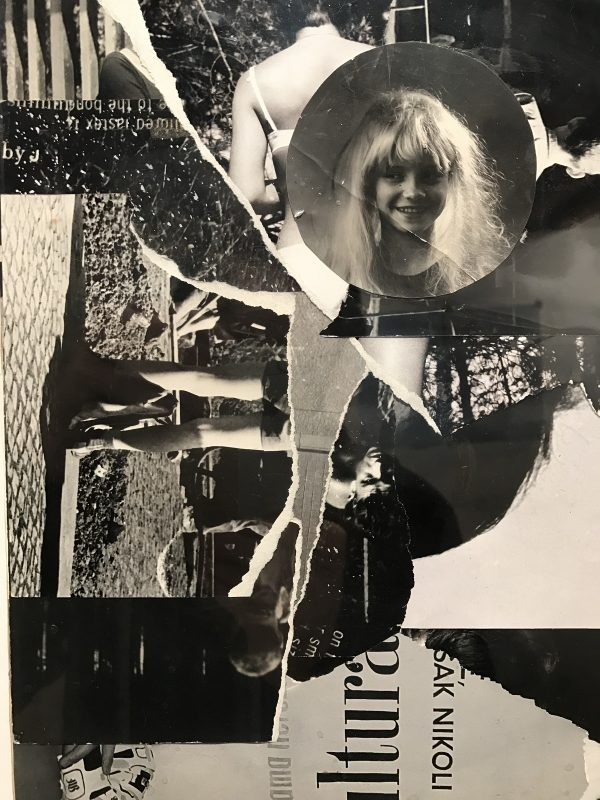 Milan Knížák, photo collage of performance, 1972