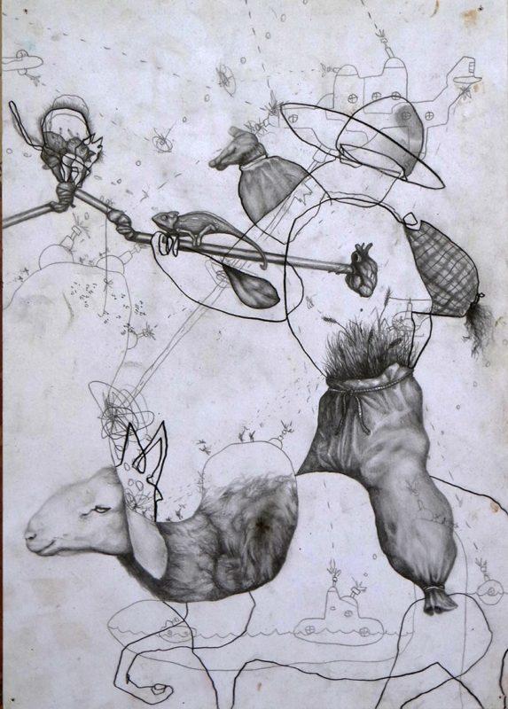 Deaf crops, 2013, series of 12 drawings
