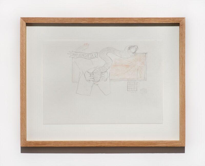 Jesse Darling, Goatse/ Melencolia (after Dürer), 2021